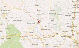 Google map de la ville de Roanne.