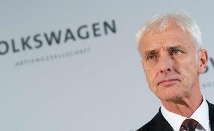 Matthias Müller, le président de Volkswagen, à Wolfsburg, en Allemagne, le 20 novembre 2015.