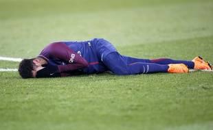 Neymar est sorti sur blessure lors du clasico PSG-OM, le 25 février 2018.