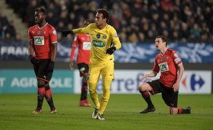 Neymar lors de Rennes-PSG, le 7 janvier 2018.