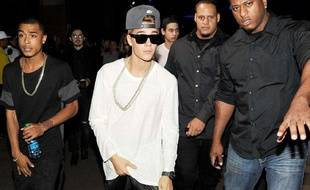 Justin Bieber à la Fashion Week de New York en septembre 2013