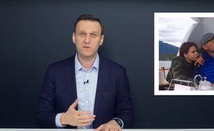 Capture d'écran de la vidéo publiée le 9 février par l'opposant russe Alexeï Navalny sur des soupçons de corruption.