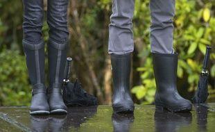 Les bottes Wellington, ou «Wellies», portées par le prince Harry et Meghan Markle le 30 octobre 2018.