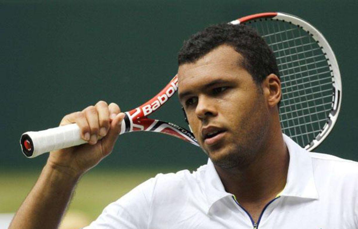 Jo-Wilfried Tsonga à Wimbledon, le 1 juillet 2011. – Anja Niedringhaus/AP/SIPA