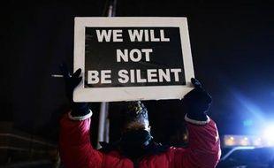 Manifestation en mémoire à Michael Brown, un jeune Noir tué par un policier blanc, le 21 novembre 2014 à Ferguson, dans le Missouri