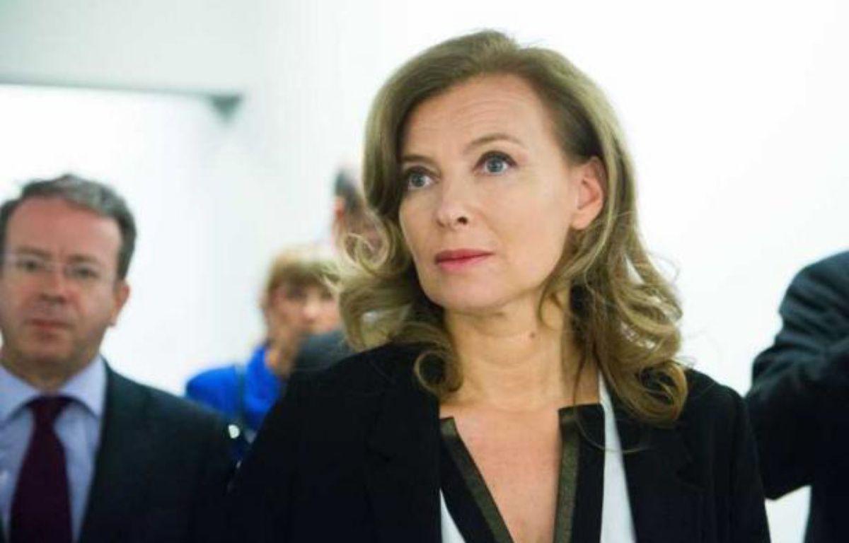 Valérie Trierweiler, le 8 octobre 2012 lors de l'inauguration de l'exposition Hopper au Grand Palais, à Paris. – REVELLI-BEAUMONT/SIPA