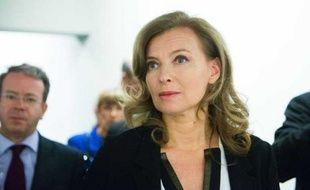 Valérie Trierweiler, le 8 octobre 2012 lors de l'inauguration de l'exposition Hopper au Grand Palais, à Paris.