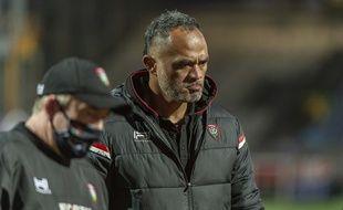 Le coach adjoint du RC Toulon Jocelino SUTA, lors d'un match contre Bayonne en novembre 2020.