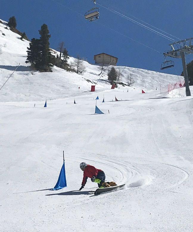 L'équipe chinoise de snowboard a choisi Isola 2000 comme camp de base pour ses entraînements.