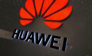 Le logo du géant chinois de l'électronique Huawei.