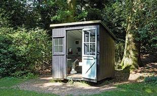 Illustration d'un cabanon de jardin.