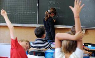 Les élèves d'une école primaire le jour de la rentrée scolaire le 5 septembre 2011 à Nantes