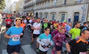 Le marathon de Nantes de  2016 (illustration).