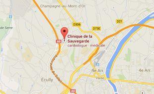 La clinique de la Sauvegarde, vue google map