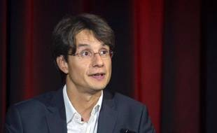 Le directeur des programmes Bruno Patino s'exprime lors de la conférence de rentrée de France Télévisions, le 27 août 2013 à Paris