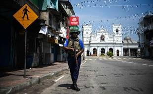 Le sanctuaire Saint-Antoine sous haute sécurité à Colombo, le 24 avril 2019.