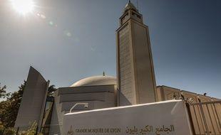 Photo d'illustration de la grande mosquée de Lyon, ici en septembre 2019.