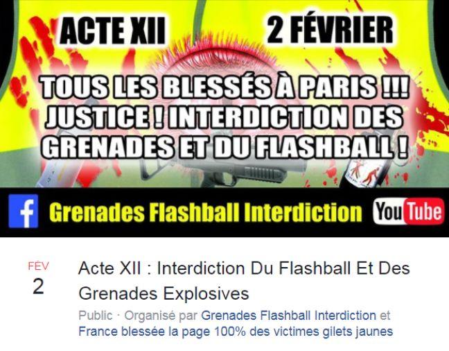 Appel à manifester le 2 février 2019 à Paris publié par des