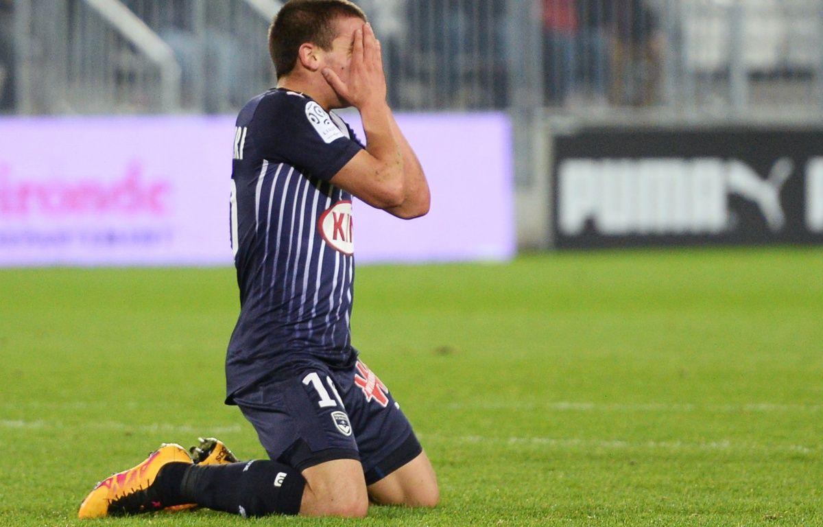 Mauro Arambarri, le jeune milieu uruguayen des Girondins après avoir manqué une occasion face au Gazelec Ajaccio, le 5 mars 2016 à Bordeaux. – AFP