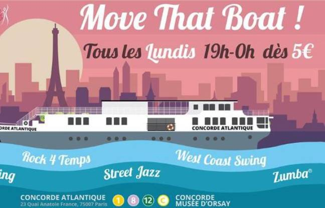 Visuel de la soirée Move That Boat ! au Concorde Atlantique
