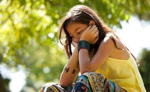 Photo d'illustration d'une jeune fille déprimée.