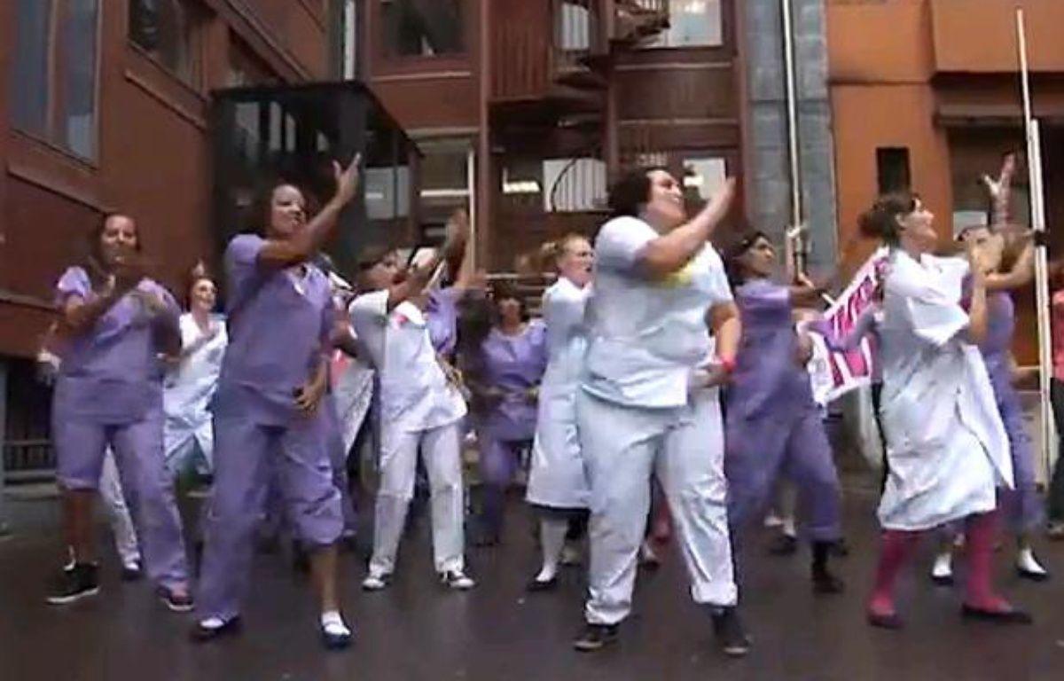 Les personnels de la maternité des Lilas (Seine-saiont-Denis) dans un remake du titre Papaoutai de Stromae, publié sur Youtube le 15 septembre – no credit
