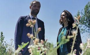 Michaël Delafosse et Carolie Mantion, unis autour de l'écologie.