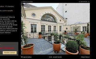 Une photo de l'hôtel particulier parisien de Gérard Depardieu publiée sur le site du groupe Daniel Féau, spécialiste des propriétés de luxe.