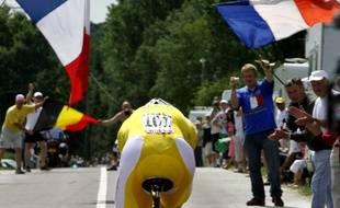 Tom Boonen lors du contre-la-montre du Tour de France 2006 dont l'arrivée avait lieu à Rennes.