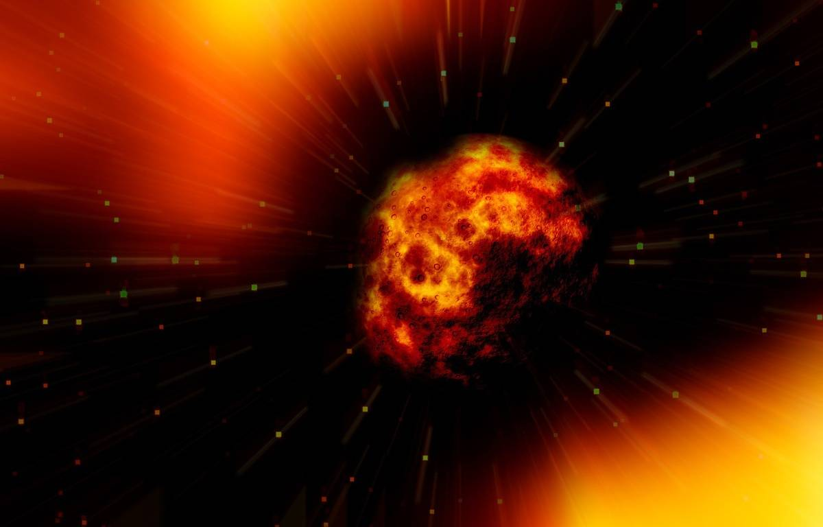 Illustration d'une explosion de planète.  – Pixabay