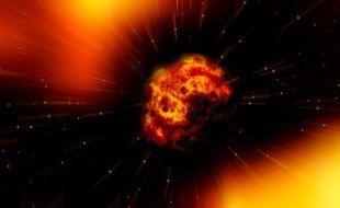 Illustration d'une explosion de planète.
