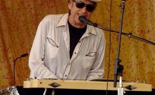 Bob Dylan lors du 37e Festival de Jazz à la Nouvelle-Orléans, en 2006