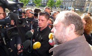 Daniel Legrand fils (au centre) et son avocat Maître Dupont-Moretti.