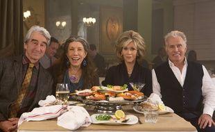 Sam Waterston, Lily Tomlin, Jane Fonda et Martin Sheen dans la série de Netflix «Grace & Frankie».
