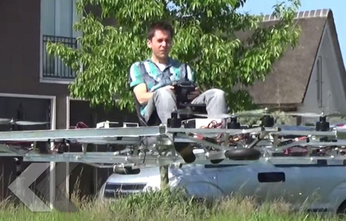 Il construit un drone géant pour se déplacer - Le Rewind (vidéo). – 20 Minutes