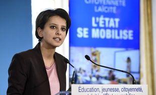 Najat Vallaud-Belkacem le 22 janvier 2015 annonce son plan pour renforcer les valeurs de la République à l'école.