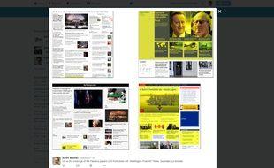 Comparatif de la couverture européenne et américaine des «Panama Papers» («Le Guardian» et «Le Monde», à droite, face au «New York Times» et au «Washington Post»).