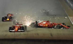 Sebastian Vettel abandonne au GP de Singapour
