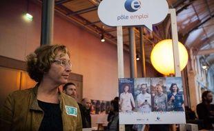 Muriel Pénicaud, la ministre du Travail, lors d'une Bourse de l'emploi à Paris organisée mi-novembre 2017.