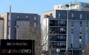 Le quartier de Croix-Rouge, à Reims, où un photojournaliste a été agressé, le 27 février 2021.