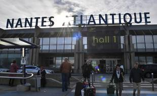 L'une des entrées de l'aéroport Nantes-Atlantique.