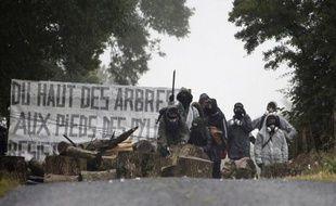 Un manifestant a été blessé à la tête lors d'affrontements entre des opposants à la ligne THT Cotentin-Maine et forces de l'ordre, à Montabot (Manche), a constaté une journaliste de l'AFP, tandis que la préfecture annonce deux manifestants et deux gendarmes blessés.