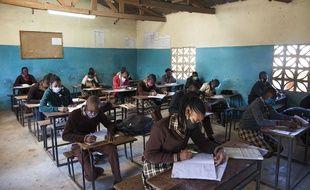Des élèves d'une école à Lusaka en Zambie, le 3 juin 2020.
