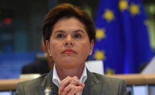La candidate slovène Alenka Bratusek, au poste de vice-présidente de la Commission européenne, lors de son audition le 6 octobre à Bruxelles