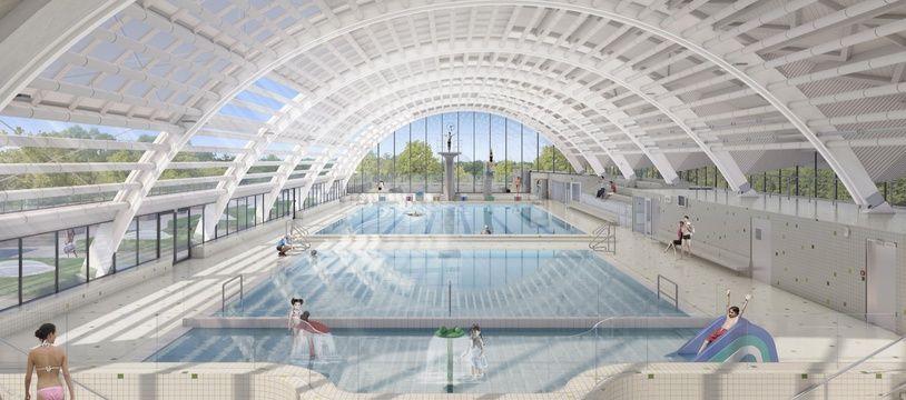 La piscine entièrement revue comportera trois bassins baignés de lumière.