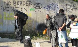 Calais, le 25 octobre 2016 - Evacuation de la jungle, camp de migrants