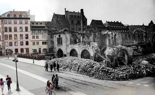 L'ancienne douane à Strasbourg. Photomontage.