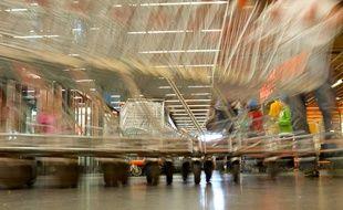 Un chariot de supermarché. (Illustration)