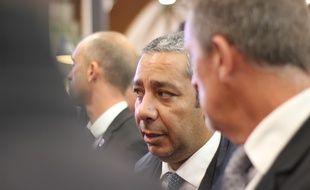 Le député LREM Mustapha Laabid, ici lors de la visite du ministre de l'Agriculture Didier Guillaume lors du salon de l'élevage Space à Rennes en septembre 2019.