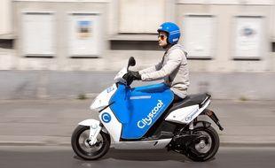 Un scooter électrique Cityscoot. Illustration.